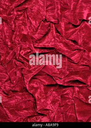 BURGUNDY RED VELVET FABRIC BACKGROUND - Stock Photo