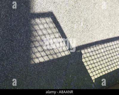 fence shadow - Stock Photo