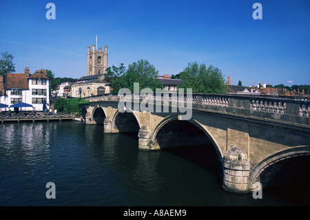 Henley on thames in summer - Stock Photo