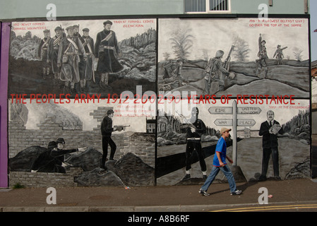 The Peoples Army 1912 - 2002 90 Years of  Resistance with person walking by - Stock Photo
