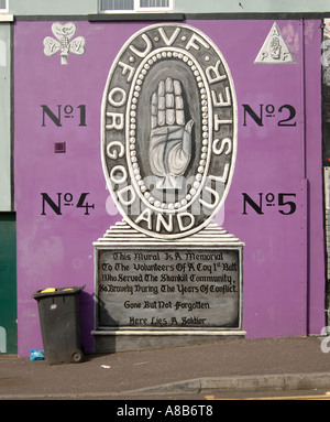 UVF For God and Ulster - Stock Photo