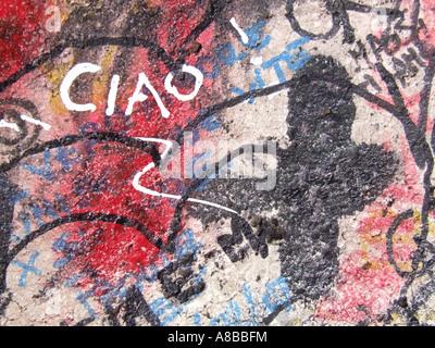 ciao graffiti on wall - Stock Photo