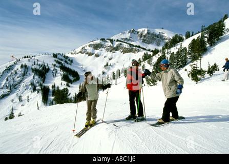 Wyoming Jackson Hole Mountain Downhill skiing model released - Stock Photo