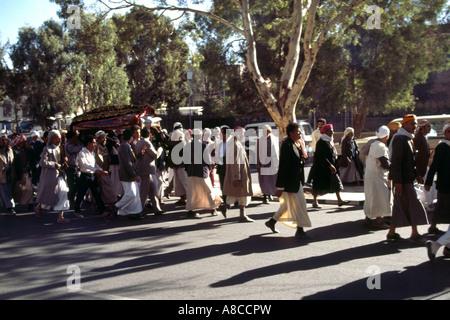 Funeral Procession Sana'a Yemen - Stock Photo