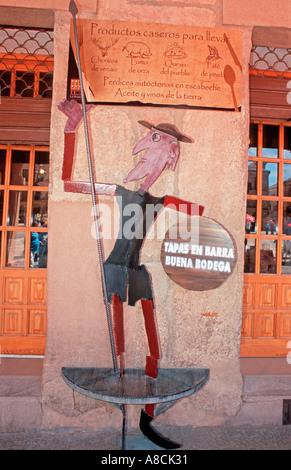 Figure of Don Quixote Villanueva de los Infantes La Mancha Spain Europe - Stock Photo