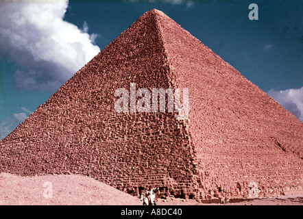 The Great Pyramid of Khufu Cheops in Egypt - Stock Photo
