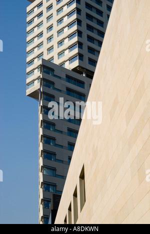 Barcelona Diagonal Mar development Hilton Hotel - Stock Photo