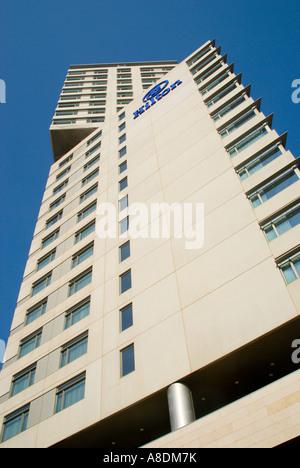 Barcelona Diagonal Mar development Hilton Hotel building - Stock Photo