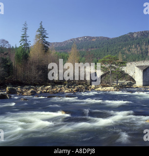 Invercauld Old Bridge of Dee - Stock Photo