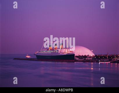 RMS Queen Mary, Long Beach, California, USA - Stock Photo