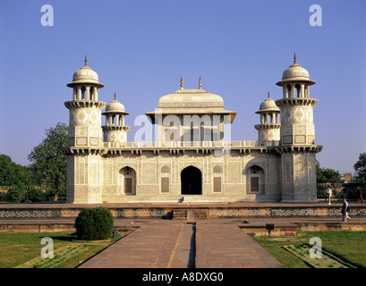 Itmad-Ud-Daulah's tomb Agra Utter Pradesh, India - Stock Photo