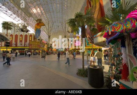 Fremont Street, Las Vegas, Nevada USA - quiet afternoon - Stock Photo