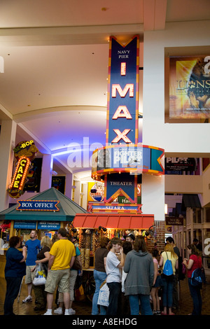 CHICAGO Illinois People indoors Family Pavilion at Navy Pier shops and businesses inside - Stock Photo