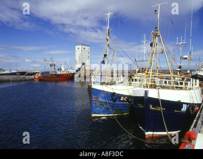 dh  BUCKIE MORAY Fishing boats in harbour Scotland coastal harbours