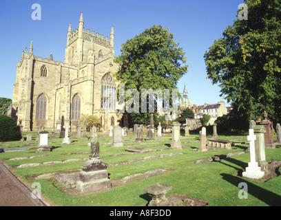 dh Dunfermline Abbey DUNFERMLINE FIFE East wing and graveyard scottish robert bruce scotland