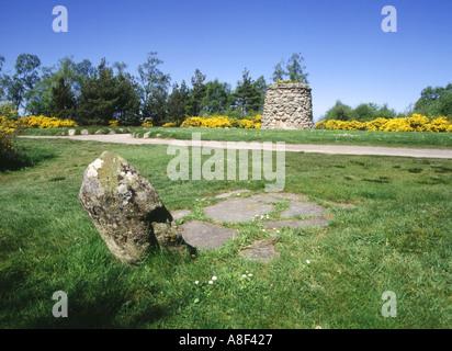 dh Battlefield CULLODEN MOOR INVERNESSSHIRE Scotland jacobite Clan gravestone memorial cairn uprising headstone scottish clans battle 1745 rebellion