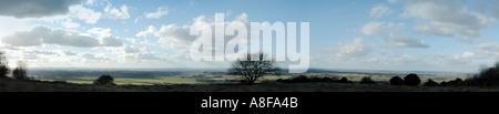 Aston Rowant panorama - Stock Photo