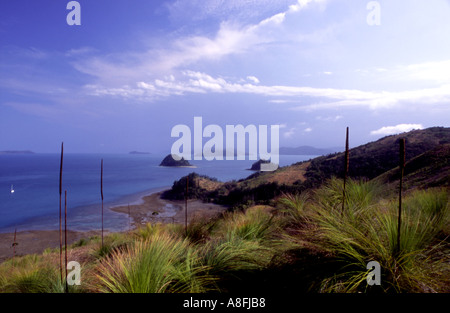View from South Molle Island Whitsunday Islands Queensland Australia - Stock Photo