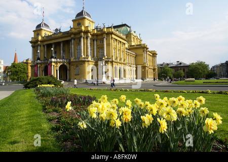 National theater in Zagreb Croatia - Stock Photo