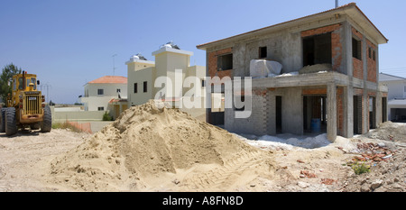 New villas being built in Cyprus a popular place to live for the English - Stock Photo