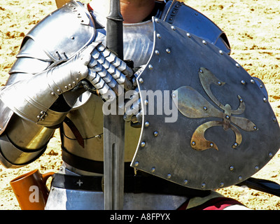 Medieval Knight metal Armour - Stock Photo
