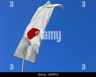 Japanese national flag - Stock Photo