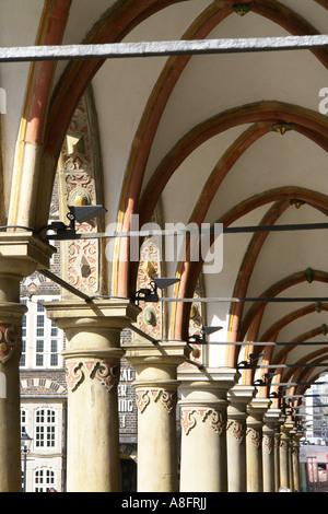 Townhall at Market square Bremen Hansestadt Germany - Stock Photo