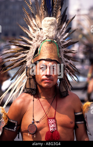 Mexico Mexican Folklore Dancing Dance Aztec Indian - Stock Photo