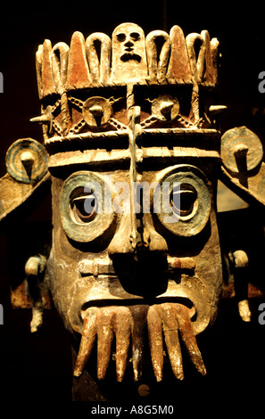 Pueblan God of Water in the National Anthropology Museum  Chapultepec Mexico City - Stock Photo