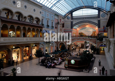 inside of Jumeirah Mercato shopping mall on Jumeirah road at Dubai, United Arab Emirates. Photo by Willy Matheisl - Stock Photo