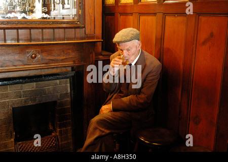 Ireland, Fermanagh, Irvinestown, Central Bar - Stock Photo