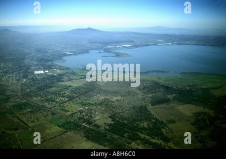 Aerial view of Lake Naivasha Kenya East Africa - Stock Photo