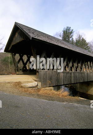 Keniston Covered Bridge Located in Andover New Hampshire USA North America NH US New England Northeast Travel - Stock Photo