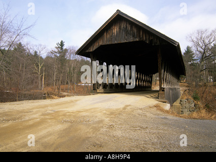 Keniston Covered Bridge Located in Andover New Hampshire USA North America US NH travel northeast nh new england - Stock Photo