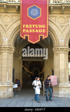 Entrance to Freuyng Passage in central Vienna Austria EU - Stock Photo