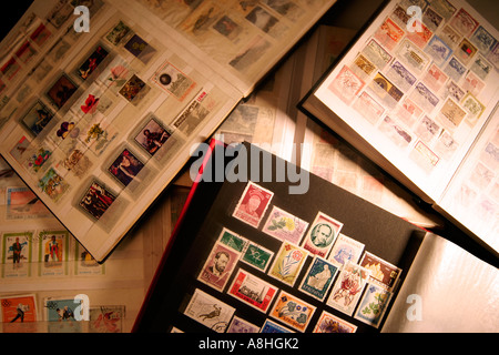 Stamp collection - Stock Photo