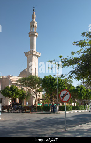 Sign no sounding of horn outside a mosque - Stock Photo
