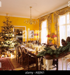 Table Set For Christmas Dinner dining room table set for christmas dinner in living room of