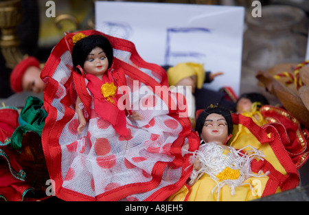 Toy dolls in flamenco dress, Spain - Stock Photo