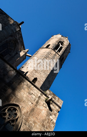 Capella de Santa Agata at the Palacio Real Mayor in Placa del Rei Barcelona - Stock Photo