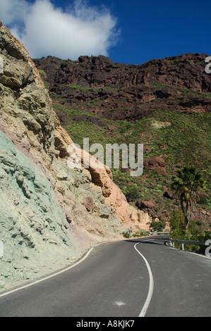 View of spanish countryside near los arcos through a - Los azulejos gran canaria ...