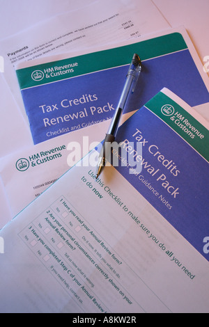 Child Tax Credit application forms - Stock Photo