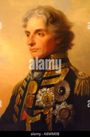 Rear Admiral Lord Nelson Portrait by Heinrich Fuger 1800  - Stock Photo