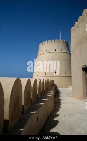 Bukha Fort in the coastal town of Bukha on the remote Musandam Peninsula, Oman. - Stock Photo