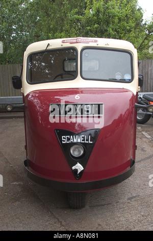 Vintage British Railways Scammell Scarab 3 wheeled vehicle - Stock Photo