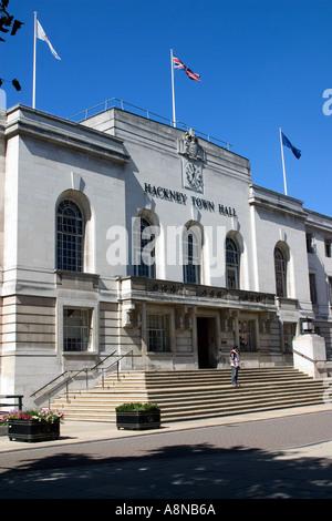 Hackney Town Hall London England - Stock Photo