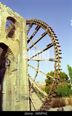 Water wheel - Hama, SYRIA - Stock Photo