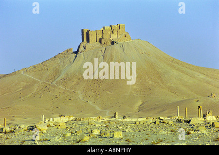 Qala'at Ibn Maan - Palmyra, SYRIA - Stock Photo