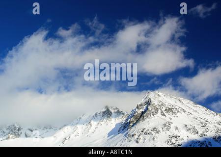 Valais Alps, view from Arolla valley, Switzerland - Stock Photo