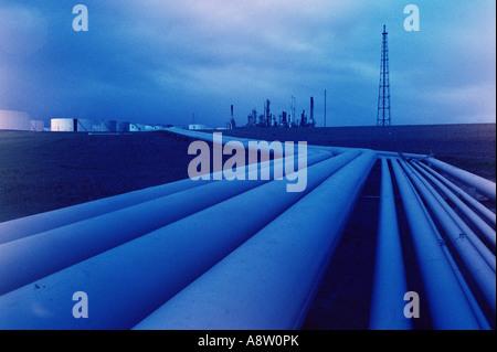 Industrial refinery pipelines. Australia. - Stock Photo